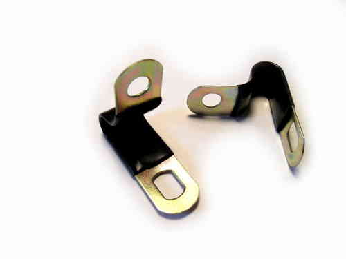 pipe clip Ø6-8mm for copper wire (isolated)