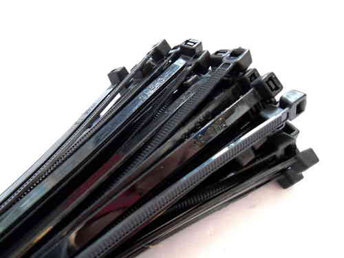 Cable ties black 300 x 4,8mm 100pcs.